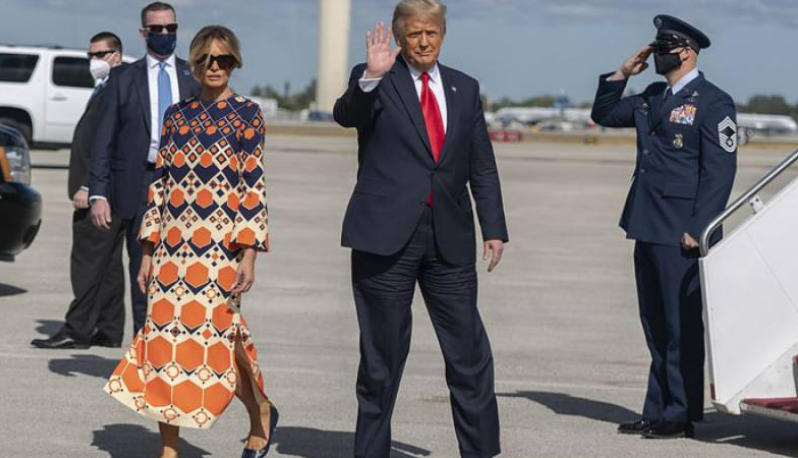 First hand, now separated, away from Melania Trump