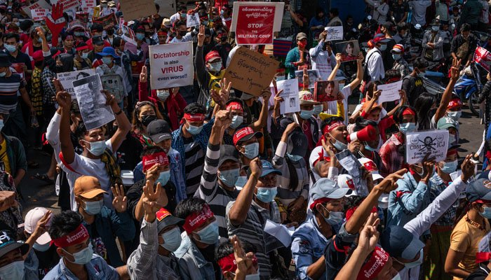 Myanmar: Public protests against the military coup spread to several cities