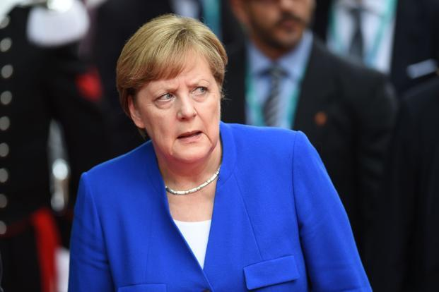 Why did the German Chancellor suddenly get up and run?
