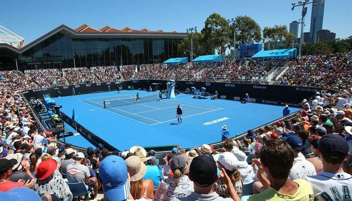 Spectators are barred from entering the Australian Open