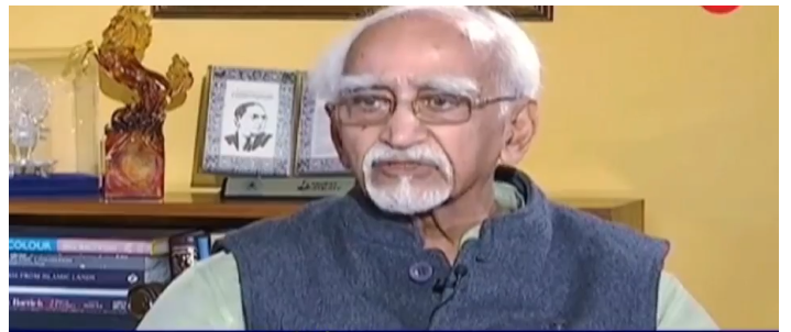 The former Indian vice president also erupted over Modi's anti-Muslim policy