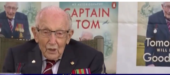 Britain's Captain Sartam Moore, who fought in World War II, was killed by Corona