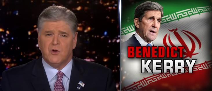 Hannity on 'shocking' new report surrounding John Kerry and Iran