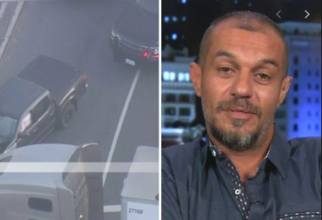 Trucker speaks out after stopping car chase involving murder suspect