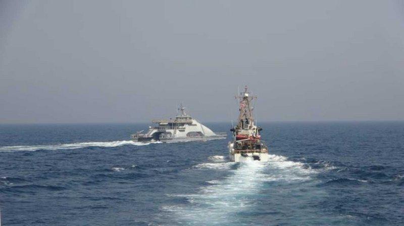 Iranian vessels engage US Navy, Coast Guard in Persian Gulf