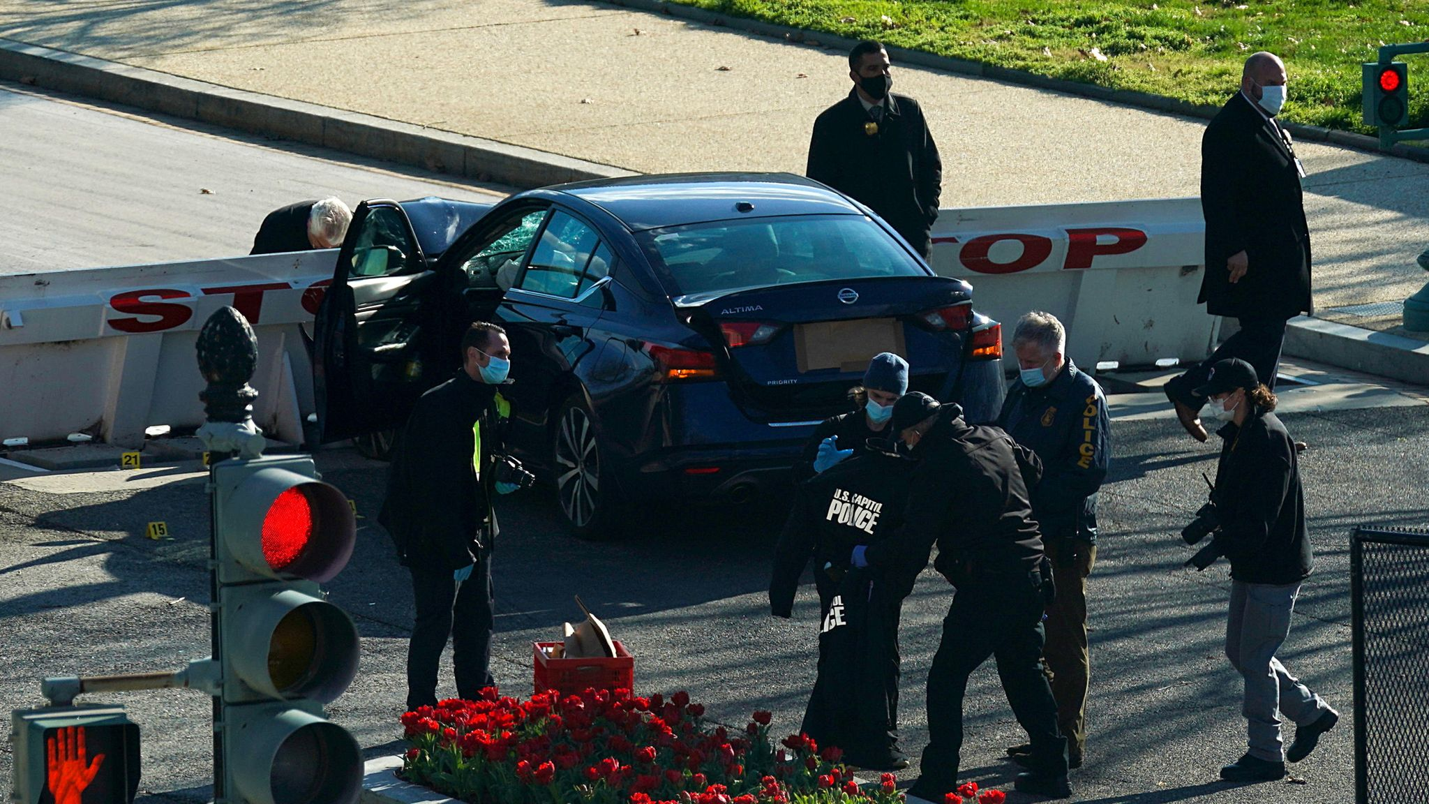 Car crashes into Capitol barricade, prompting lockdown