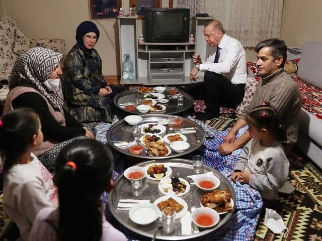 Turkish President and First Lady attend Iftar at the home of an ordinary citizen