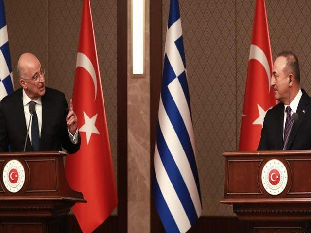 Turkish and Greek foreign ministers clashed at a press conference