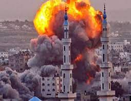 Israel's heavy bombardment of the Gaza Strip once again