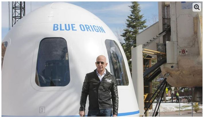 Jeff Bezos announces space travel with his brother
