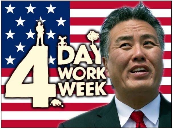 Three holidays a week, work four days; Introduced the law in the US Congress