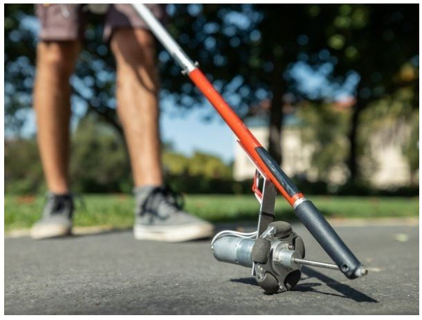 A modern rod for the blind with laser radar technology